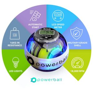 powerball fusion features, hand strengthener