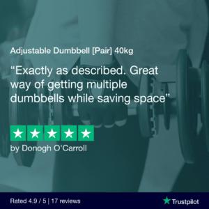 Adjustable Dumbbells 40KG (Pair)
