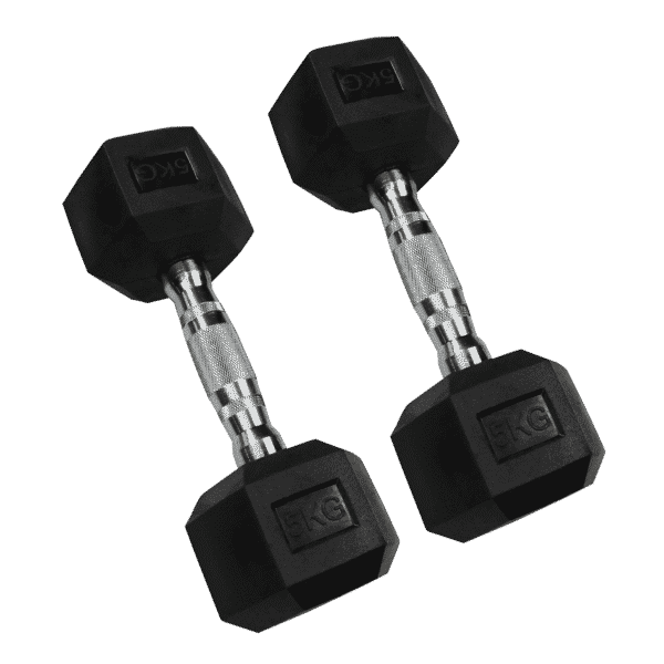 Hexagonal Dumbbell Set (2.5kg-10kg Pairs)