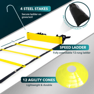 Agility Ladder & Cones - Combo Pack