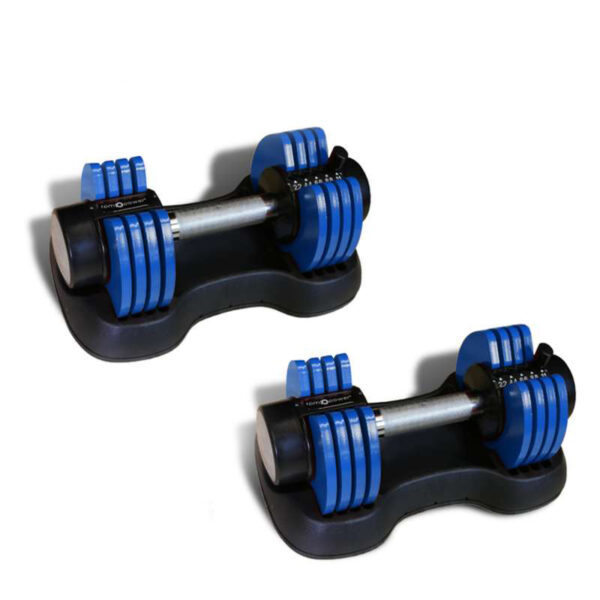 Adjustable Dumbbells 11KG (Pair)- Blue