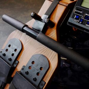 water rower with adjustable footaplate