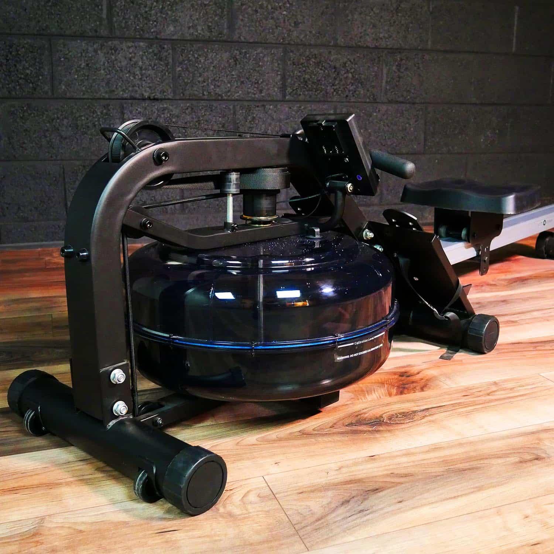 metal water rower, rowing machine