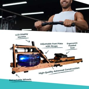 features of ashwood foldable rowing machine