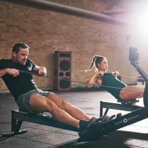 Air Rowing Machine + Free Battle Rope