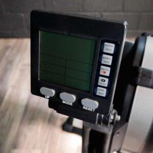 sleek rowing machine, variable resistance rower