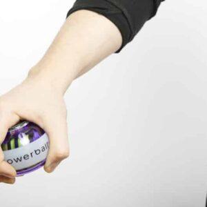 model holding powerball
