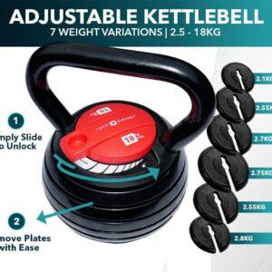 adjustable kettlebell, 18kg kettlebell
