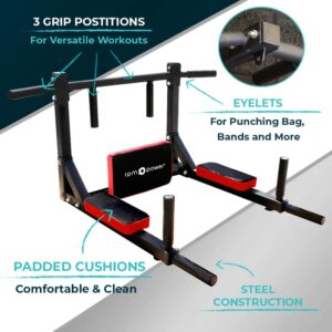 pull up bar dip station features