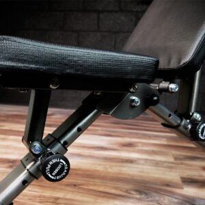 adjustable in three positions, weight bench