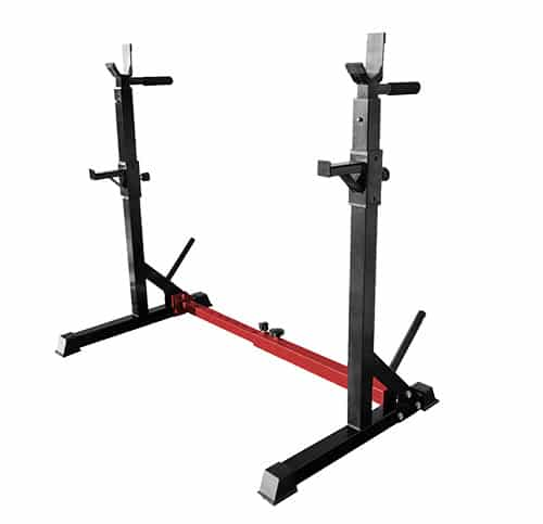 squat rack for different types of barbells