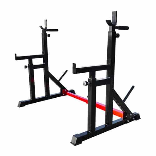 squat rack for rubber barbell set