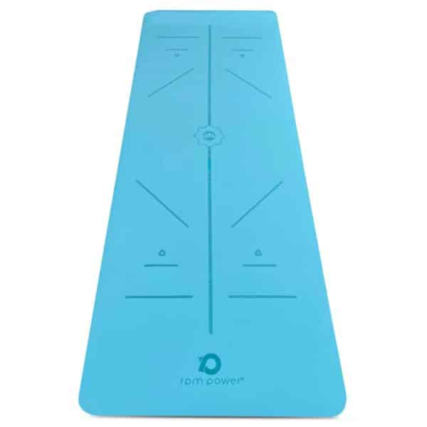 'Padmasana' Yoga Mat (Cyan)