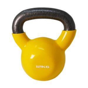 Cast Iron Rubber Kettlebell 12kg